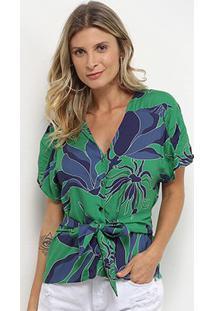 Blusas Morena Rosa Feminino-10000108140 - Feminino-Verde+Azul