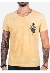 Camiseta Amarela Flower 102412