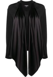 Calvin Klein 205W39Nyc Satin Tie Neck Blouse - Preto