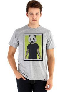 Camiseta Ouroboros Panda Man Cinza