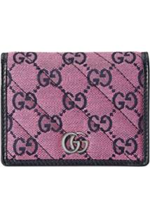 Gucci Carteira Gg Marmont - Rosa