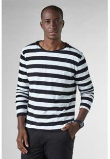 Camiseta Df Listras Tricot Ml Reserva Masculina - Masculino