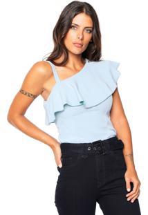 Blusa Colcci Ombro Único Azul