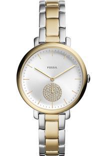Relógio Analógico Fossil Feminino Jacqueline Es4439/1Kn Prateado