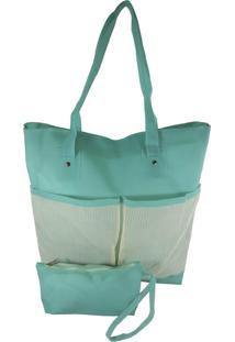Bolsa Bag Dreams De Praia Impermeável Com Bolsos Azul - Kanui