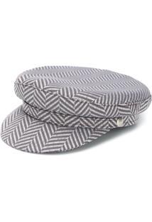 Manokhi Chapéu Estampado - Cinza