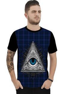 Camiseta Ramavi Xadrez Look Curta Preto