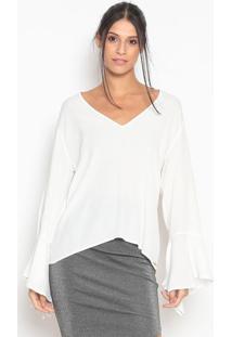 Blusa Texturizada- Off White- Colccicolcci