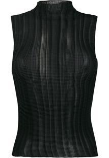 Givenchy Blusa Sem Mangas - Preto