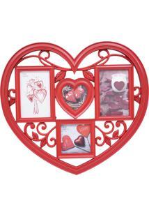 Porta Retrato Minas De Presentes Coração Vermelho - Kanui