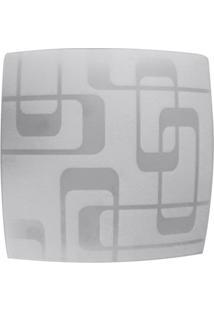 Plafon Leblon Para 2 Lâmpadas Quadrado Soquete E27 30X30Cm