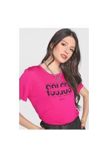 Camiseta Colcci Common Sense Pink