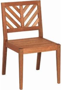 Cadeira Em Madeira Sem Braços Eko 47,2 X 53,6 Cm Stain Jatobá - Mestra Móveis