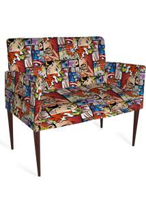 Cadeira Decorativa Mademoiselle Plus 2 Lug Imp Digital 110 Comics - Kanui