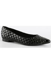 Sapatilha Feminina Textura Bico Fino Moleca 5655101