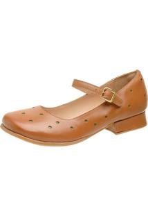 Sapato Feminino Miuzzi Whisky / Verde Ref: 3213 - Kanui