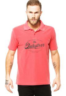 Camisa Polo Quiksilver Last Hurrahpo Vermelha