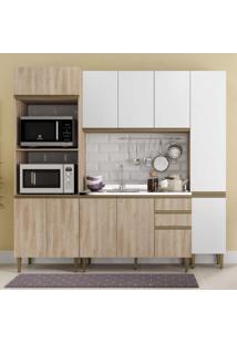 Cozinha Completa 4 Peças 11 Portas Com Paneleiro Be Mobiliário Aveiro/Branco
