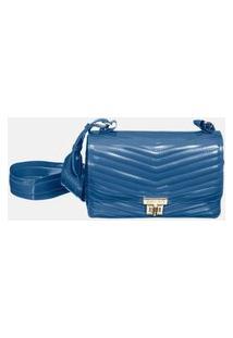 Bolsa Petite Jolie Crossbody Matelassê Azul