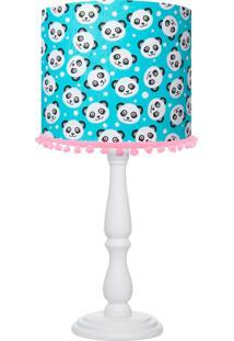 Abajur Carambola Panda Azul