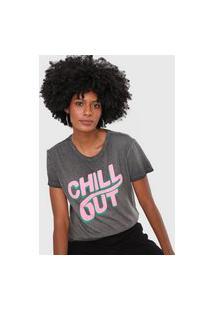 Camiseta Hering Chillout Grafite
