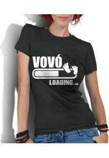 Camiseta Criativa Urbana Frases Vovó Loading - Feminino