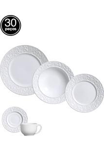 Jogo De Jantar 30 Pçs Branco Porto Brasil