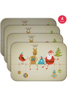 Jogo Americano Love Decor Wevans Cute Noel Kit Com 4 Pçs - Kanui