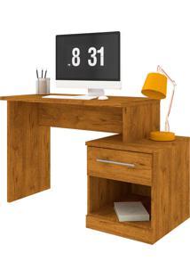 Escrivaninha Com Mesa De Cabeceira 100% Mdf Supreme Nature Madeirado Robel Móveis