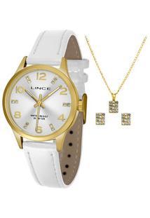 Kit Relógio Feminino Strass Lince Lrch052L Kt66S2Bx