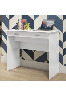 Escrivaninha / Mesa Computador 2 Gavetas - Branco