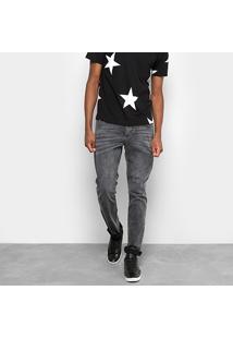 Calça Jeans Skinny Drezzup Marmorizada Masculina - Masculino