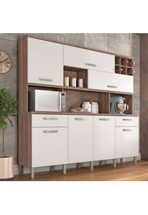 Cozinha Compacta Master 7 Pt 2 Gv Branca E Nogal