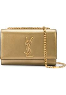 Saint Laurent Bolsa Transversal Kate Pequena - Dourado