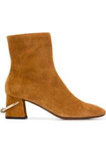 L'Autre Chose Ankle Boot Detalhe Metalizado - Marrom