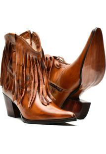 Bota Texana Em Couro Country Capelli Boots Feminina - Feminino-Marrom
