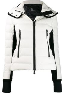 Moncler Grenoble Hooded Puffer Coat - Branco