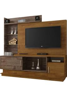 Estante Para Home Theater Adustina Caramelo E Chocolate 178 Cm