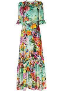 Mary Katrantzou Vestido Longo Com Estampa Floral - Estampado