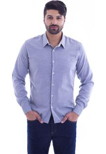 Camisa Slim Fit Live Luxor Mescla Claro 2112 - Gg