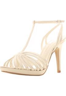 Sandália Santa Scarpa Sapato De Noiva Festa Nova Iorque Bege