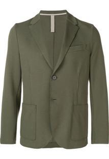 Harris Wharf London Blazer Com Abotoamento Simples - Green