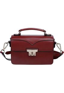 Bolsa Carteiro - Vermelho Escuro - 15X21X7,5Cmfellipe Krein