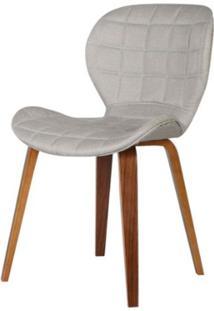Cadeira Lucia Tecido Linho Cor Bege - 31687 - Sun House