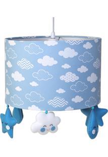 Lustre Tubular Chuva De Amor Quarto Bebê Infantil Menino Potinho De Mel Azul