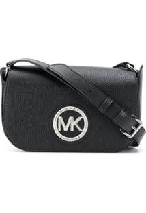 Michael Michael Kors Pebbled Leather Shoulder Bag - Preto