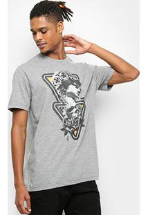 Camiseta Mcd Regular Mcdavi Masculina - Masculino-Cinza