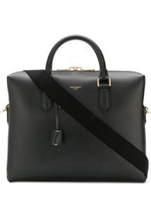 Dolce & Gabbana Bolsa De Couro Para Notebook - Preto