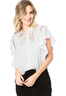 Camisa Colcci Comfort Lese Branca