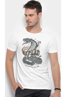 Camiseta Replay Snake Masculina - Masculino-Branco